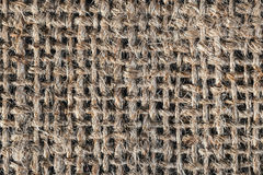 Textured background of a brown burlap bag Stock Photography