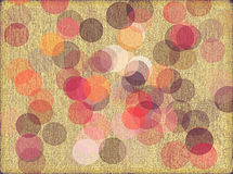 Textured Background With Circles. A textured retro style background with circles of muted colors Stock Photos