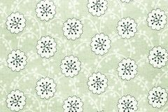 Textured background of cotton fabric green color Royalty Free Stock Images