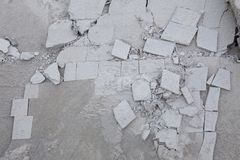 Textured background of cracked slate and geometric shapes Stock Image