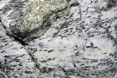 Surface of a mineral bearing rock Stock Photography