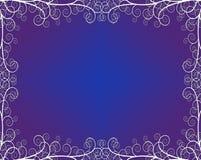 Textured Background with Flourishes. Textured blue purple Background with Flourishes vector illustration