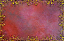 Textured Background with Flourishes. Red Textured Background with Flourishes vector illustration