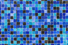Textured background of mosaic wall Stock Photography