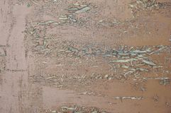 Textured background of old boards covered with red dark cracked from old age paint stock photos