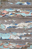 Textured background of old boards with peeled paint Royalty Free Stock Photo