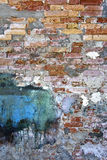 Textured background, old brick wall pattern in Burano Royalty Free Stock Photography