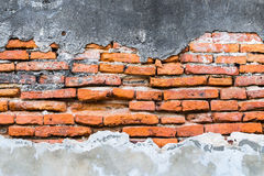 Textured background: Old concrete brick wall pattern Royalty Free Stock Photography