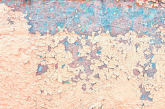 Textured background - peeling paint on old concrete surface Stock Images