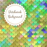 Textured Background of Round Patches Stock Photo