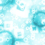Textured background with scattered shapes - blue spectrum Stock Photography