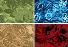 Textured background Vector Set Royalty Free Stock Images
