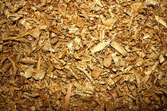 Textured background of wood sawdust Royalty Free Stock Photography