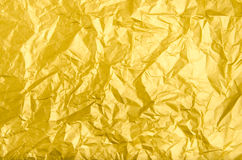 Texture and background of wrinkled golden paper Royalty Free Stock Photo