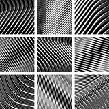 Textured backgrounds set. Op art. Stock Photos