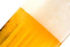 Textured beer with foam Royalty Free Stock Photography