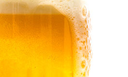 Textured beer with foam Royalty Free Stock Photo