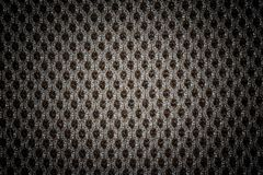 Textured black fabric cloth texture with natural patterns can be. Used as background. Closeup view. Darker from the centre Royalty Free Stock Photography