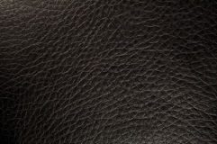 Textured black leather Royalty Free Stock Photography
