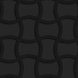 Textured black plastic arched rectangles grid. Seamless geometric background. Pattern with 3D texture and realistic shadow.Textured black plastic arched royalty free illustration