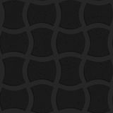 Textured black plastic arched solid rectangles Stock Images
