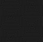 Textured black plastic cut and shifted squares Stock Photography