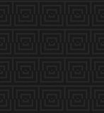 Textured black plastic cut squares Stock Image