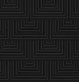 Textured black plastic overlapping squares Royalty Free Stock Photo