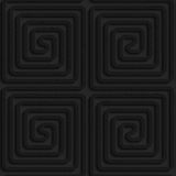 Textured black plastic square spirals reflected Royalty Free Stock Photography