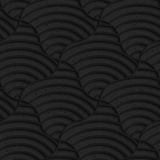 Textured black plastic striped pillows Royalty Free Stock Images