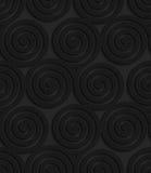 Textured black plastic three spirals Royalty Free Stock Photo