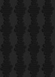 Textured black plastic vertical waves Royalty Free Stock Image