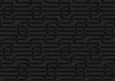 Textured black plastic waves Stock Photos