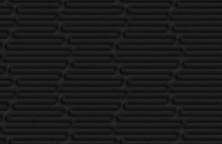Textured black plastic wavy hexagons Royalty Free Stock Photos