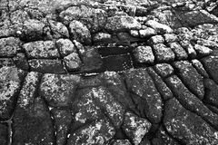 Textured black and white rocks Stock Images