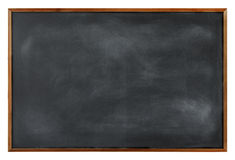 Textured Blackboard with Brown Border Royalty Free Stock Image