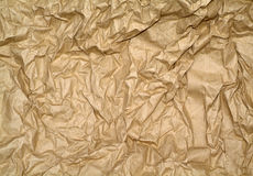 Textured blank brown recycled paper Royalty Free Stock Images