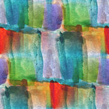 Textured blue, green, red seamless palette picture. Frame graphic style watercolor background Royalty Free Illustration
