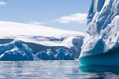 Textured blue icebergs stock photography