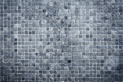 Textured blue wall tiles Stock Images
