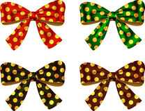 Textured bows Stock Photography
