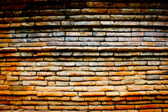 Textured  brick and stone brown wall. Vintage Royalty Free Stock Images