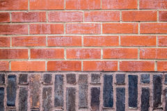Textured brick wall. A red/black brick wall, excelent for textures Stock Photos