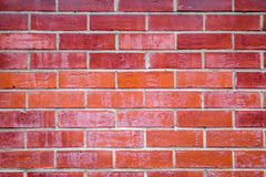 Textured brick wall. A texture of a red brick wall Stock Photography
