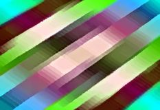 Abstract multicolor background. Oil paint effect. Blurred colorful image from stripes. Stock Image