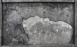 Textured of broken cement wall surface use as background ,backdr Stock Images