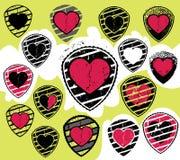 Textured broken heart romantic symbol Stock Image