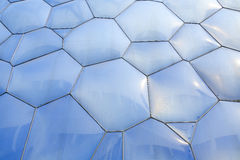 Textured Building. The bubble shapes on the outside of the Water Cube in Beijing's Olympic Park Royalty Free Stock Images