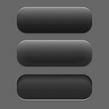 Textured button dark color in three positions Stock Photography