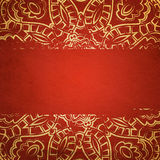 Textured card with filigree ornament Stock Image